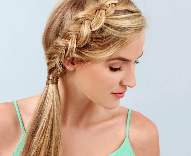 Inside-out braided ponytail - 11 Braided Ponytail Tutorials Perfect for Fall