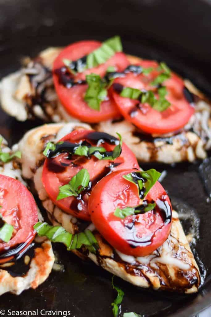 Caprese Chicken by Seasonal Cravings