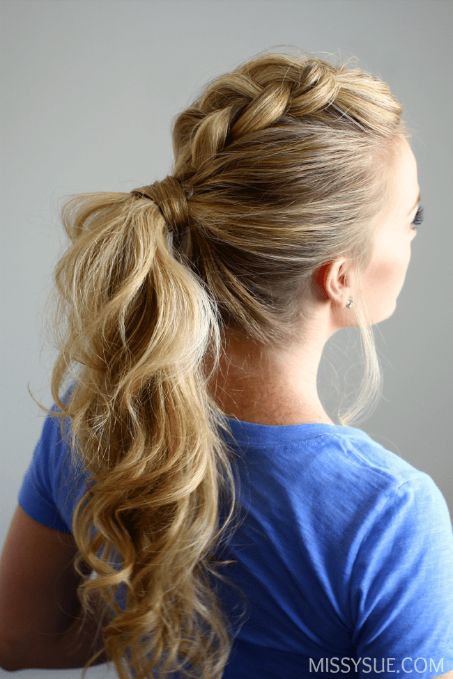 Dutch mohawk ponytail - 11 Braided Ponytail Tutorials Perfect for Fall