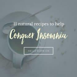 11 Natural Recipes to Help Conquer Insomnia