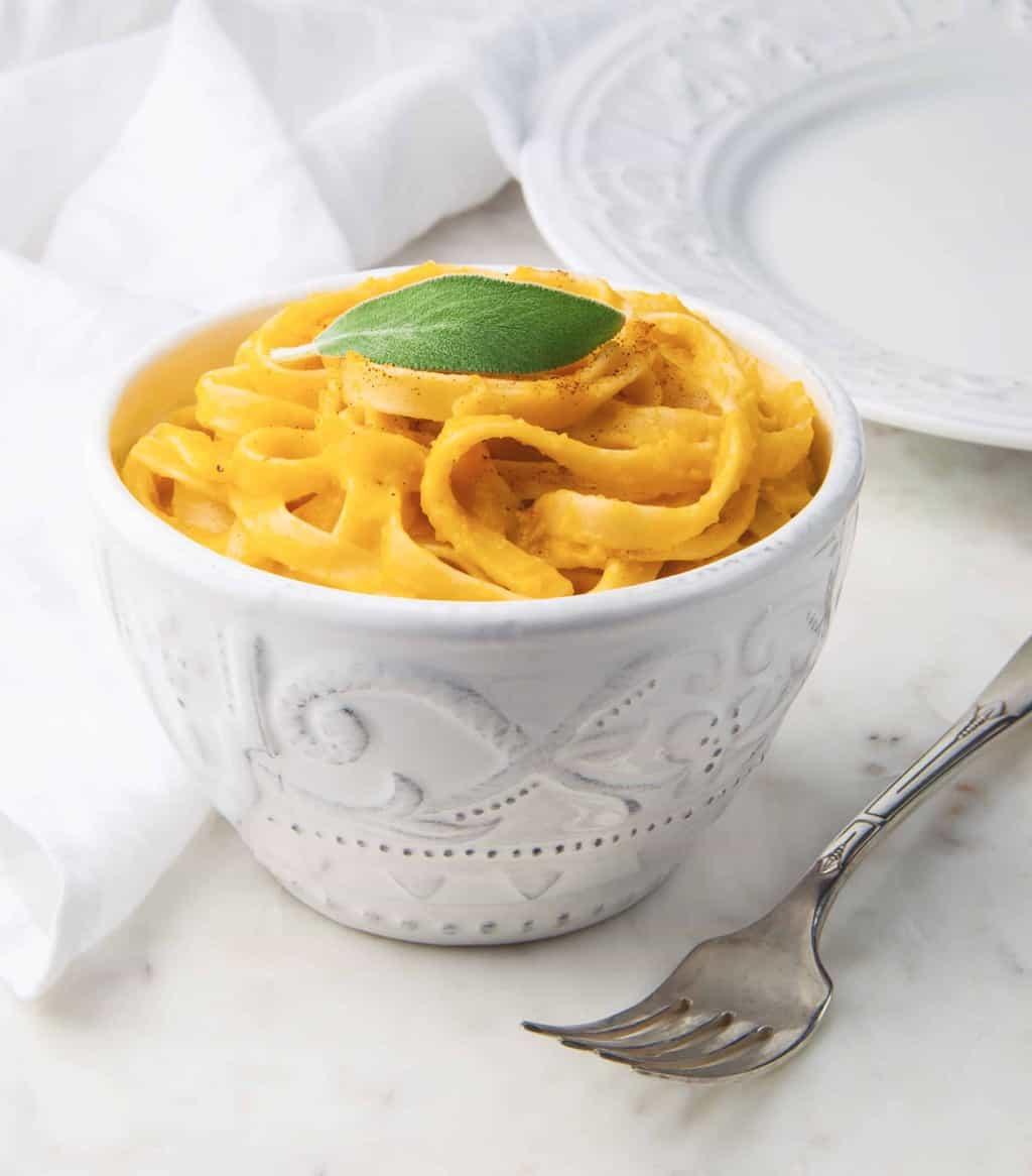 Dairy-Free Pumpkin Fettuccine Alfredo | Hello Glow