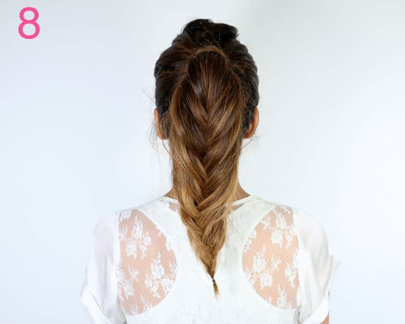 Fishtail braid ponytail - 11 Braided Ponytail Tutorials Perfect for Fall