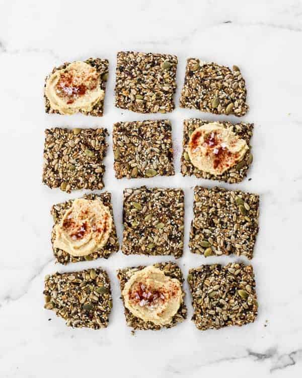 Sun-Dried Tomato and Garlic Super-Seed Crackers