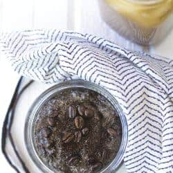 DIY Exfoliating Vanilla Latte Body Scrub