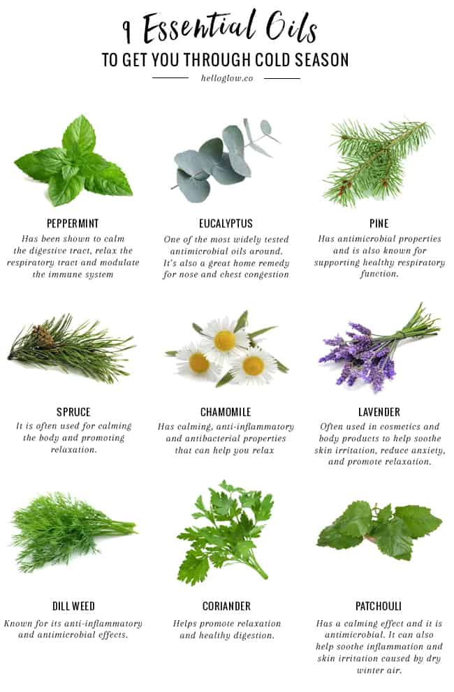 9 Essential Oils for the Cold Season
