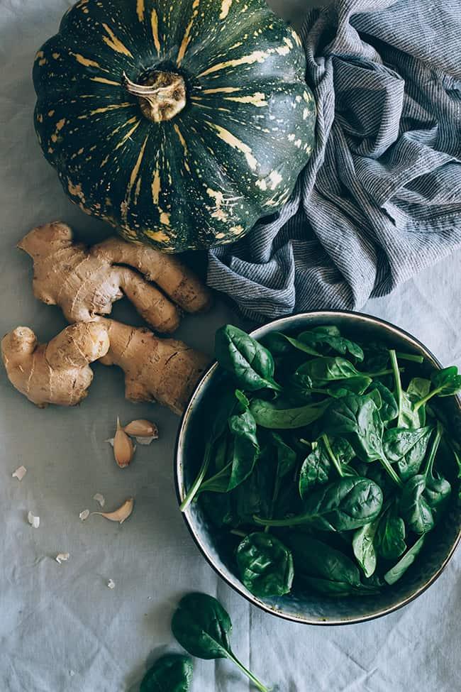 Spinach-Stuffed Acorn Squash