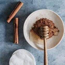 DIY Honey Cinnamon Mask + Exfoliating Nutmeg Scrub