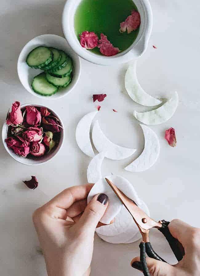 Cucumber Rose eye mask