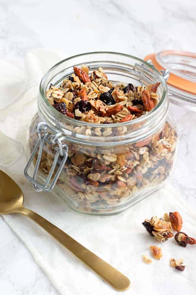 Gift-Worthy Homemade Superfood Granola