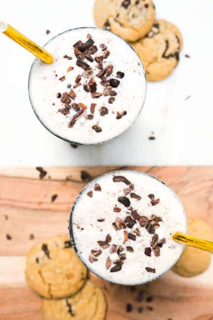 Healthy Cookie Dough Milkshake from Liz Moody