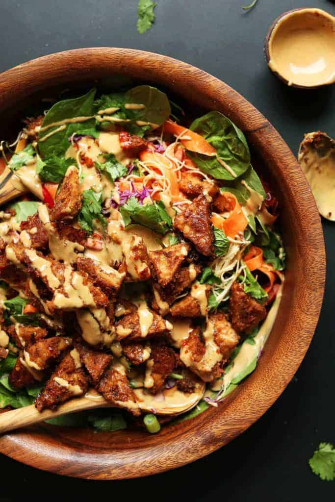 Blissed Out Thai Salad with Peanut Tempeh from The Minimalist Baker