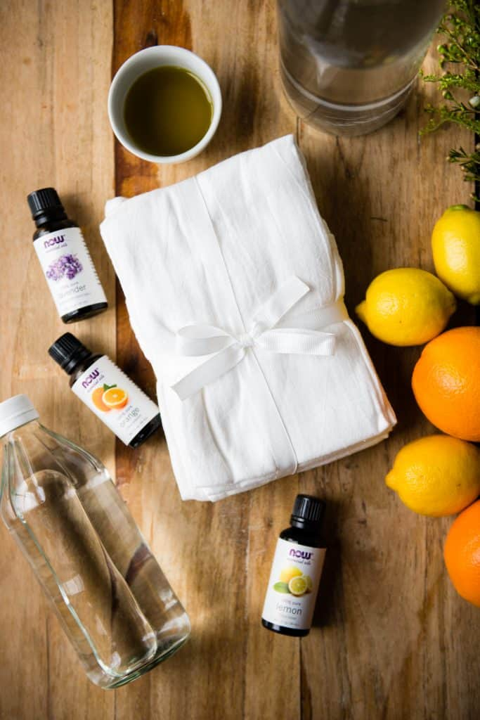 DIY Citrus Olive Oil Dust Wipes