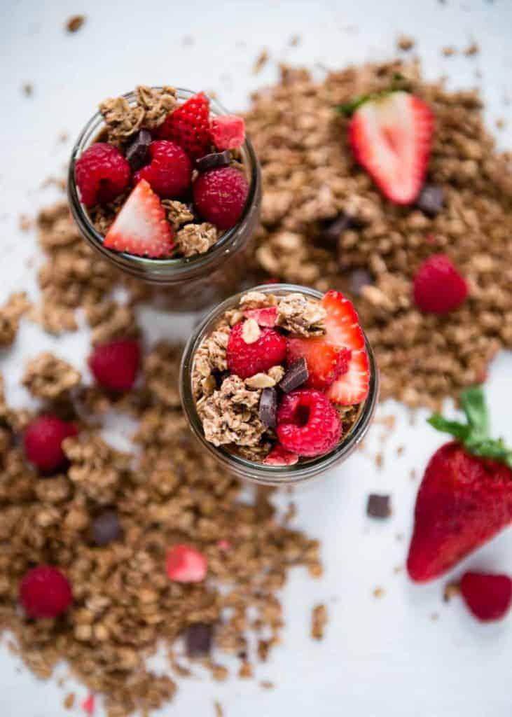 Berry Chocolate Chia Pudding Breakfast Parfait