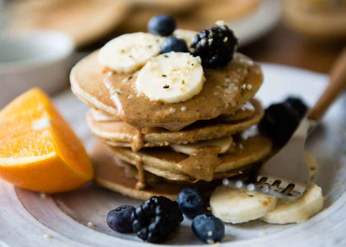 Quick and Easy Blender Protein Pancakes