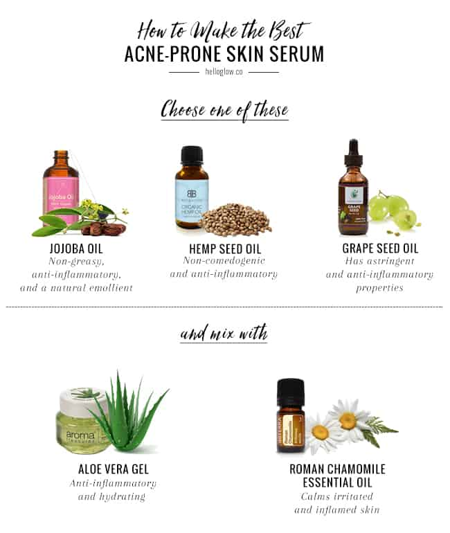Acne-Fighting Chamomile Face Serum + The Best Oils for Acne