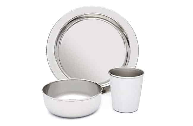 Stainless dishes