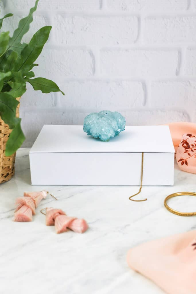 DIY Borax Crystal Jewelry Box