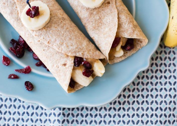 Peanut Butter Banana Craisins Rollup