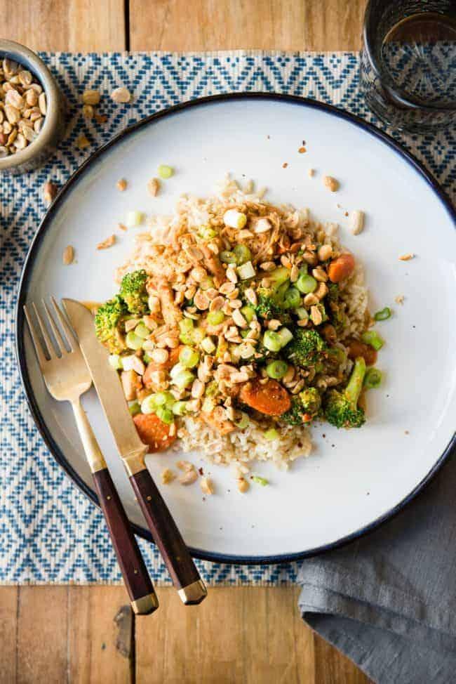 Slow Cooker Thai Peanut Chicken Curry