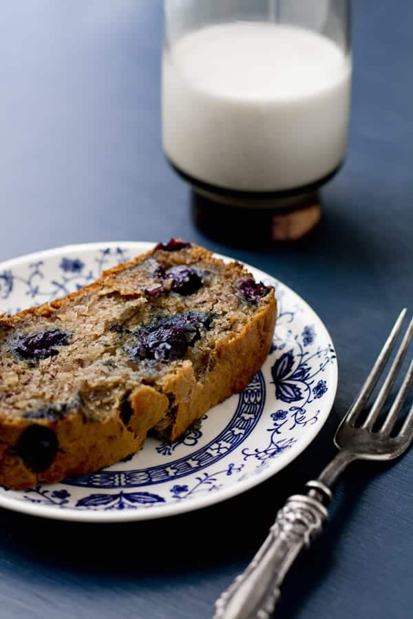 Vegan Blueberry Banana Bread from Oh My Veggies