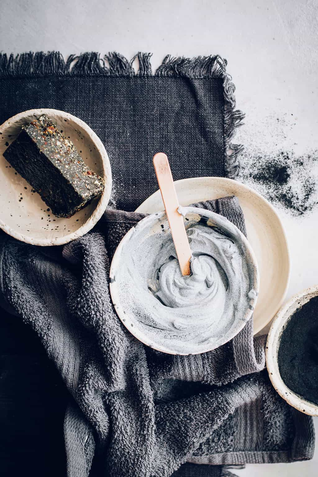 Activated Charcoal Protein Bars + Scrub