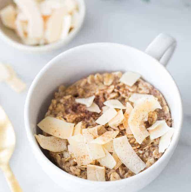 Single Serve Microwave Baked Coconut Oatmeal