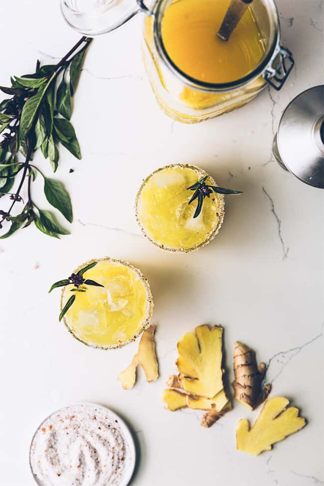 Golden Watermelon Cocktails from Milly's Kitchen