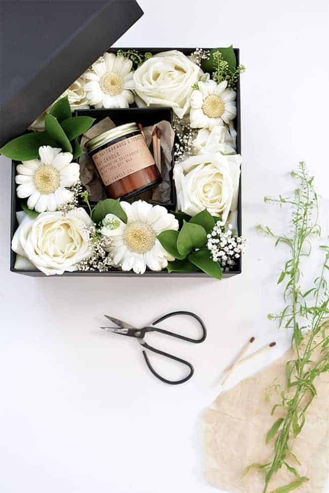 DIY Flower Gift Box