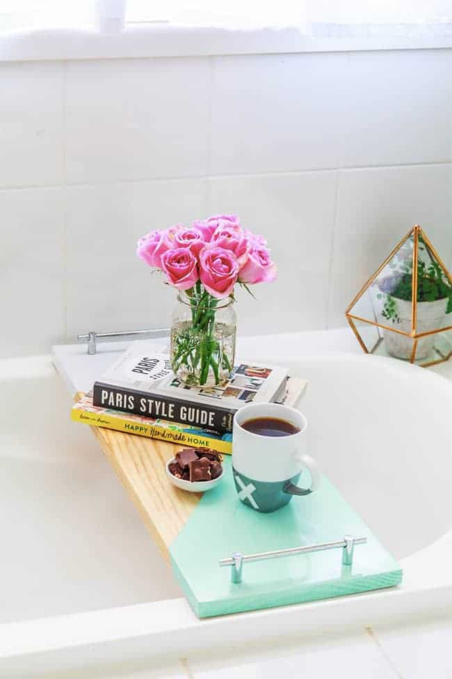 Geometric Bath Shelf