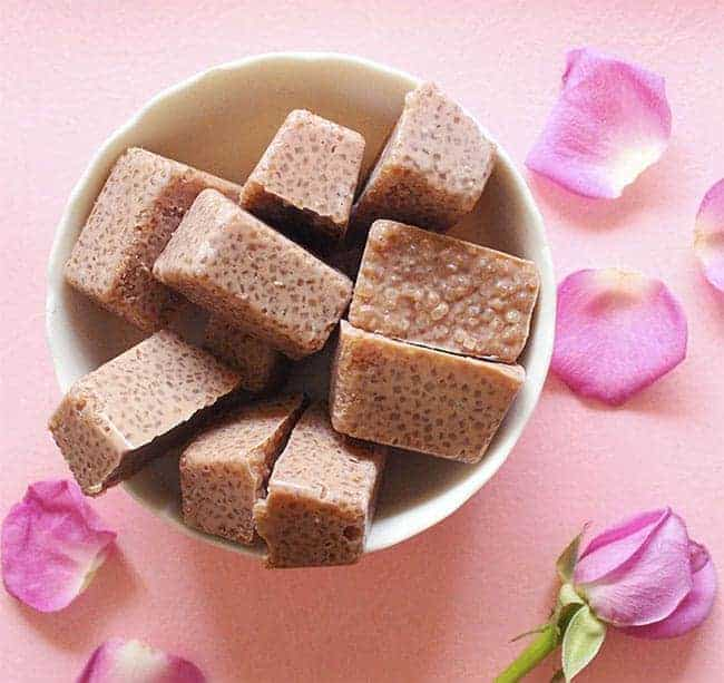 Easy Homemade Chocolate Sugar Scrub Cubes from The Craftables