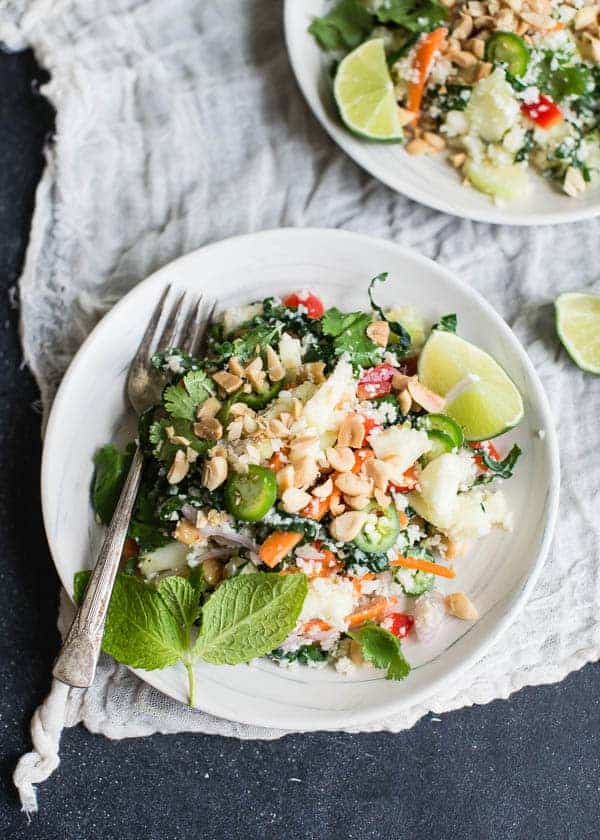 Thai Cauliflower Rice Salad from Cafe Johnsonia