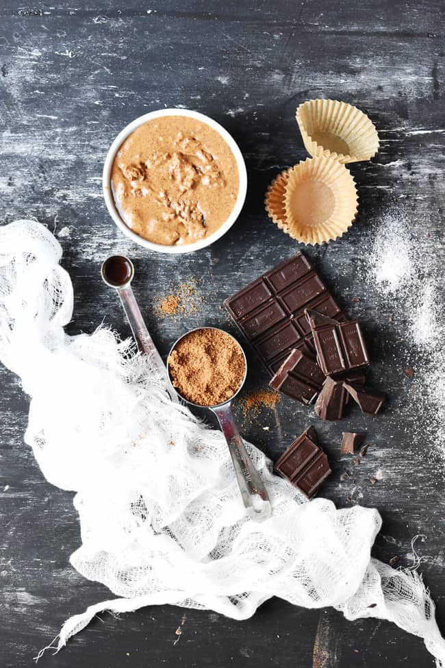 Healthy Chocolate Almond Butter Cups