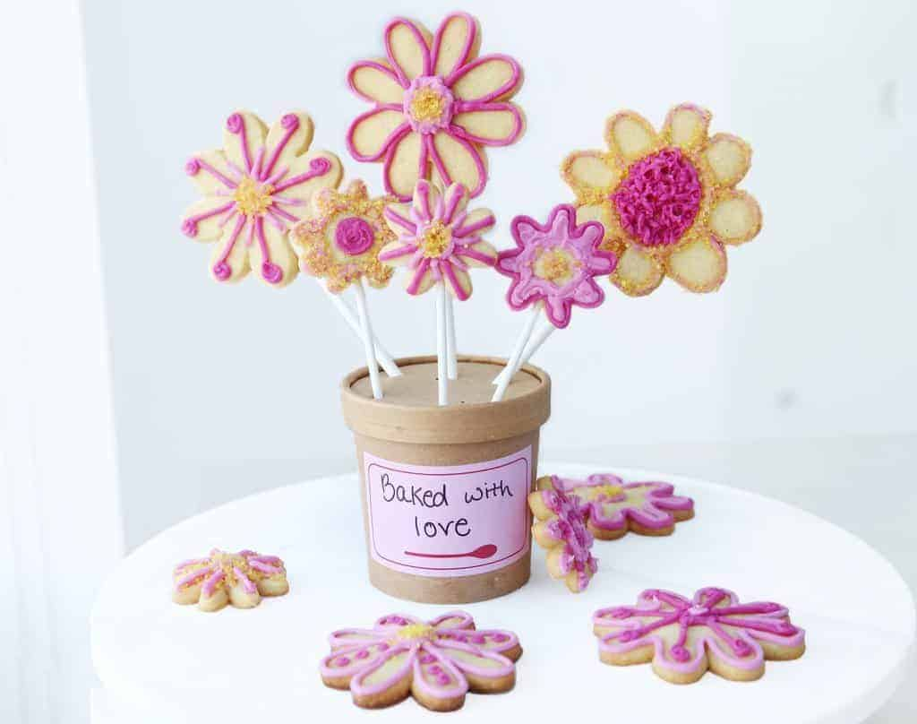 Foodstirs Darling Daisy Cookie Bouquet