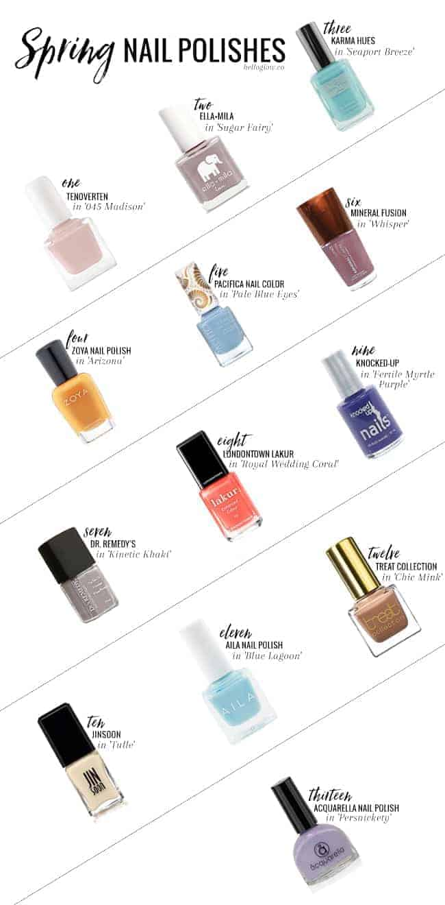 13 (Non-Toxic!) Spring Nail Polish Colors You Need Right Now