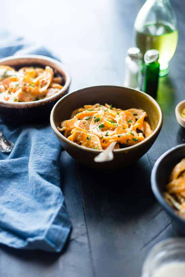Vegan Mac and Cheese with Butternut Squash Noodles from Food Faith Fitness