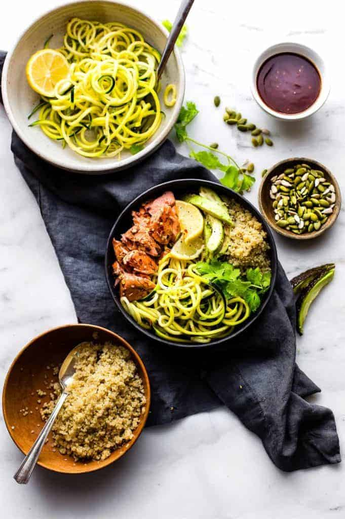 Honey BBQ Baked Salmon Meal Bowls - Lindsay from Cotter Crunch
