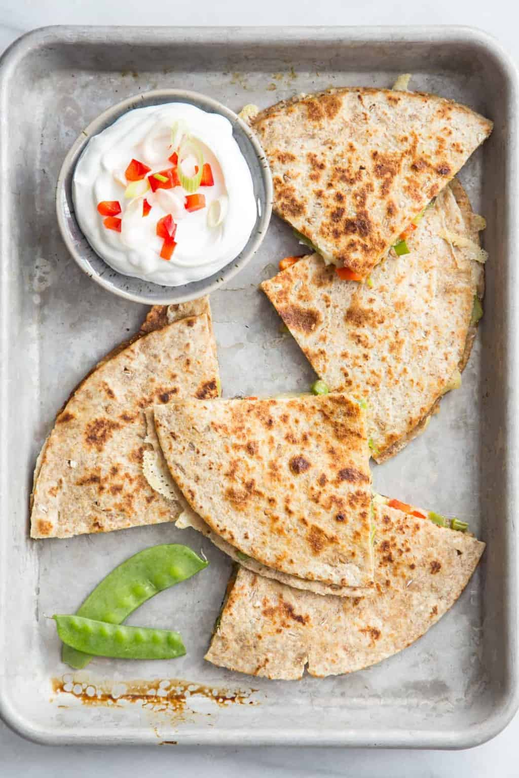 A Meatless Monday Crowd-Pleaser: Spring Vegetable Quesadillas
