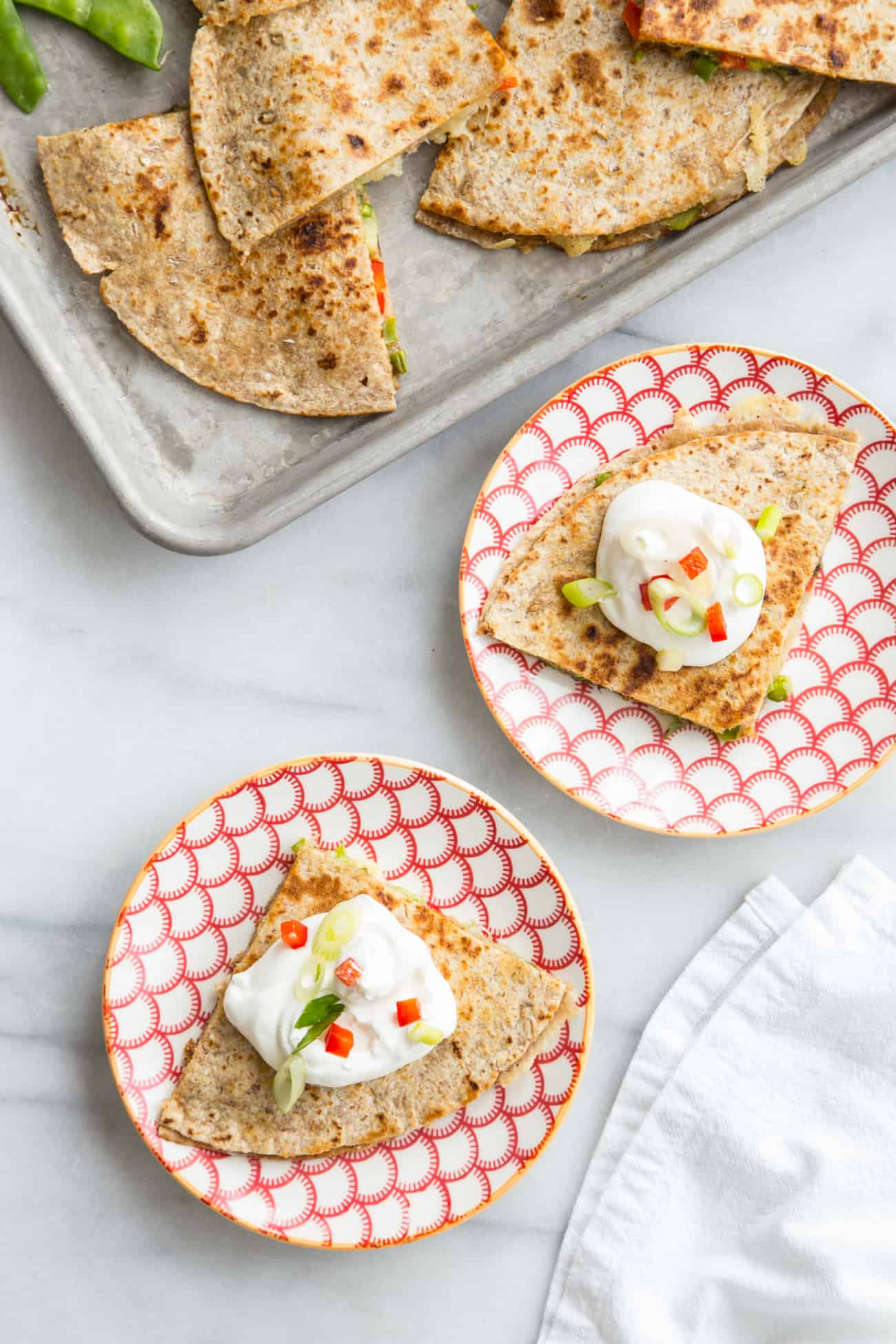 Spring Vegetable Quesadillas