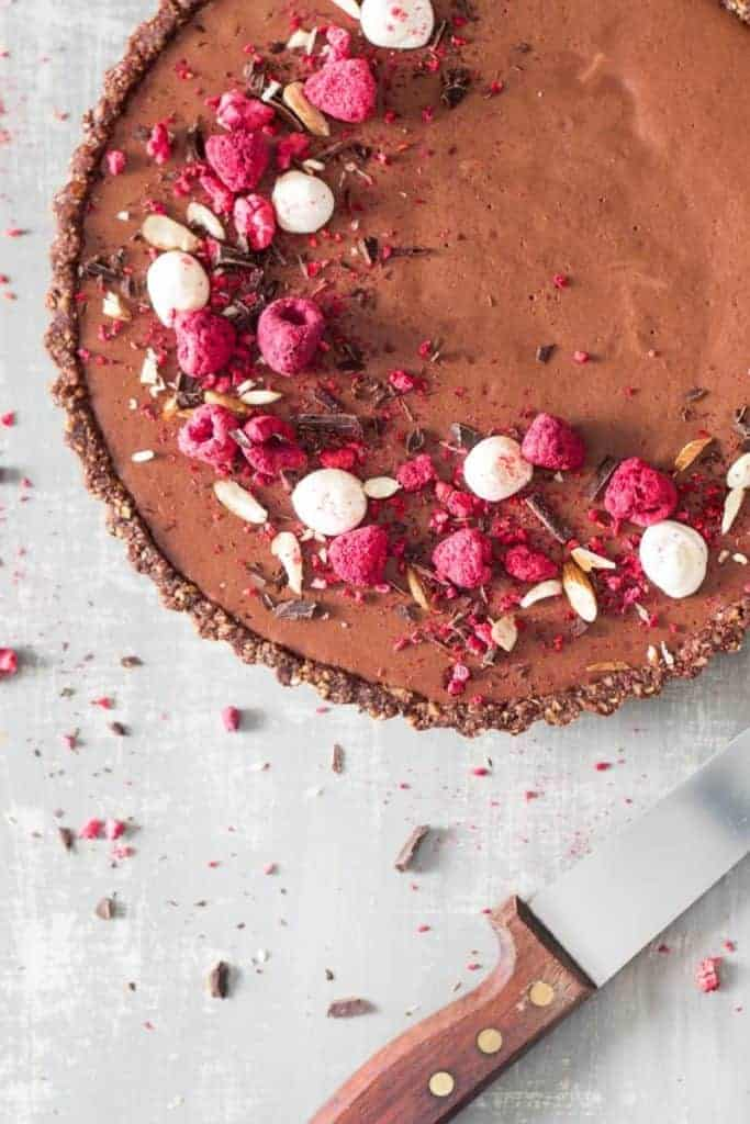 Chocolate Mousse Raspberry Tart from Lazy Cat Kitchen