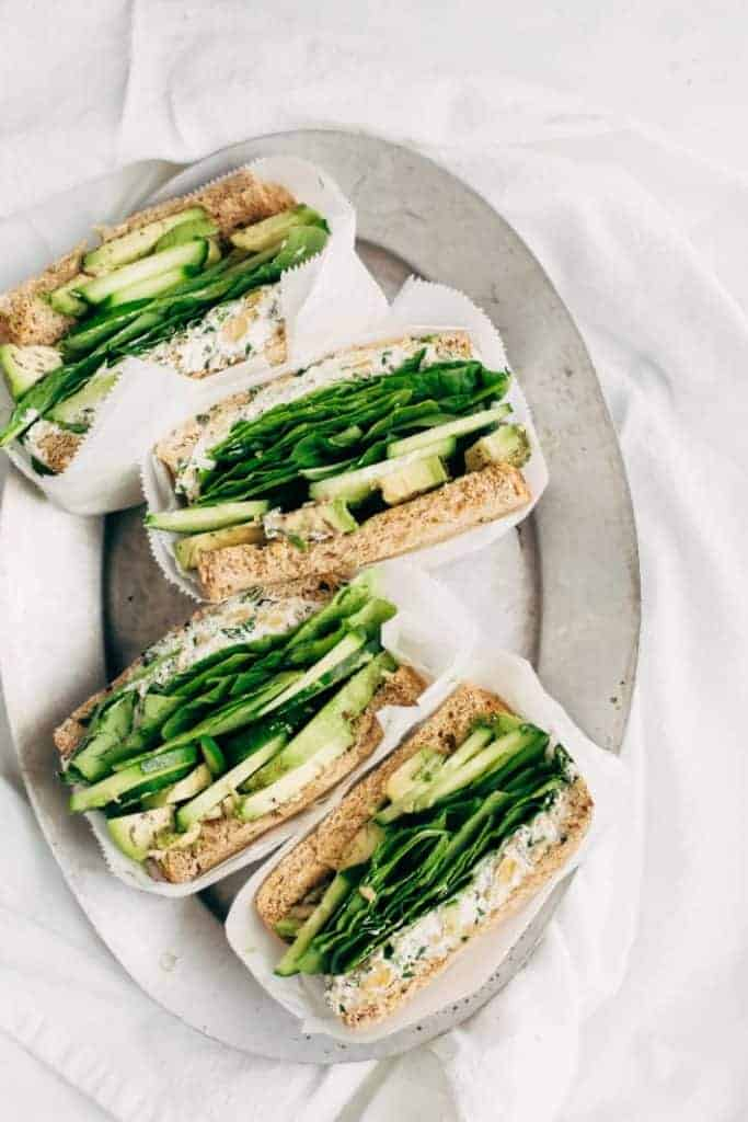 Smashed Chickpea Green Goddess Sandwiches from Little Spice Jar