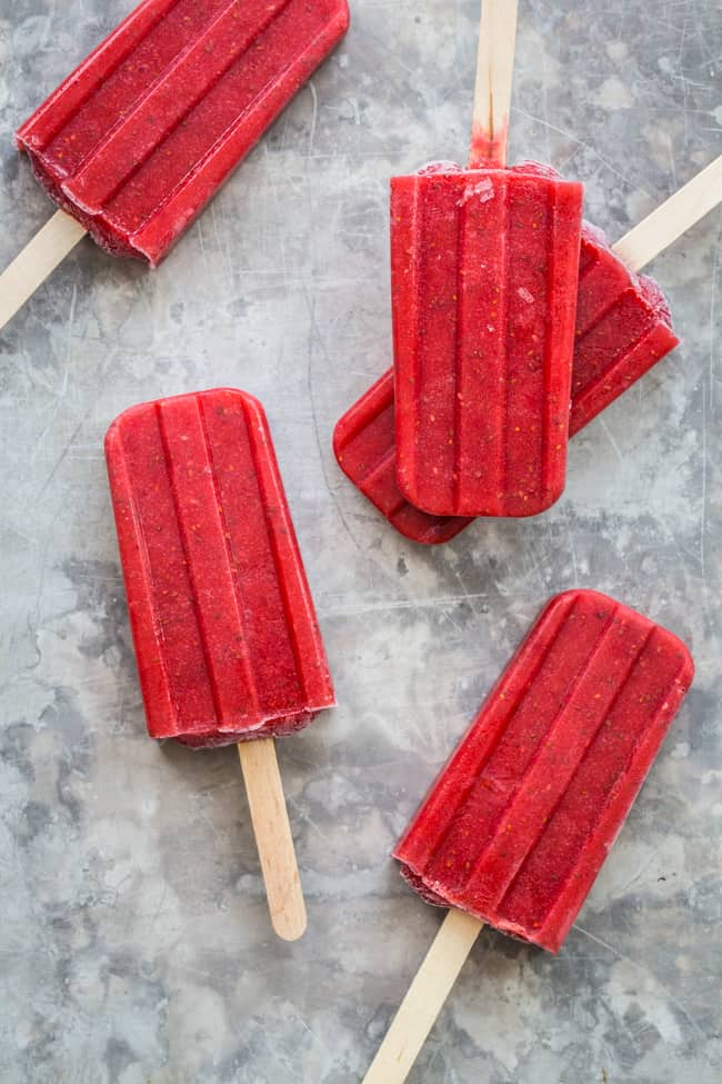 Stay Cool With These Strawberry Chia Superfood Pops