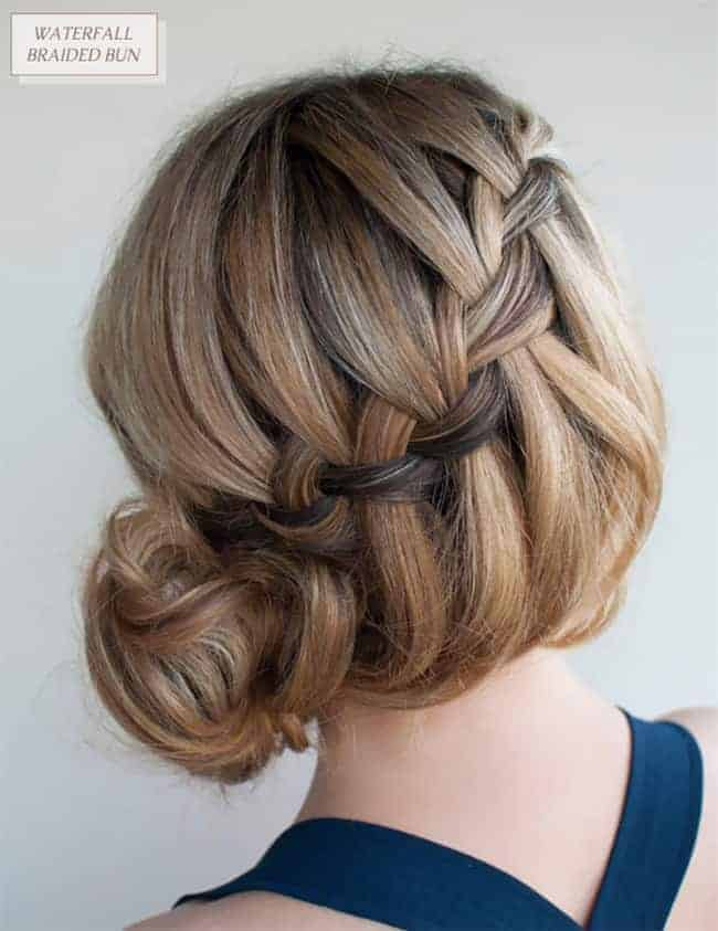 Waterfall Braided Bun from Oh The Lovely Things