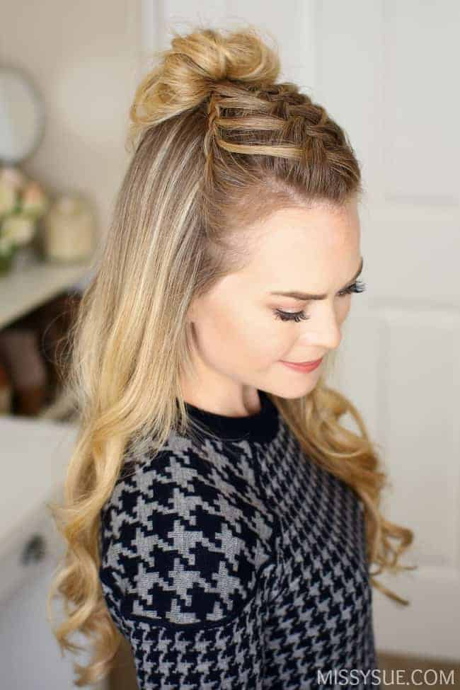 How to Style a Mini Crown Braid