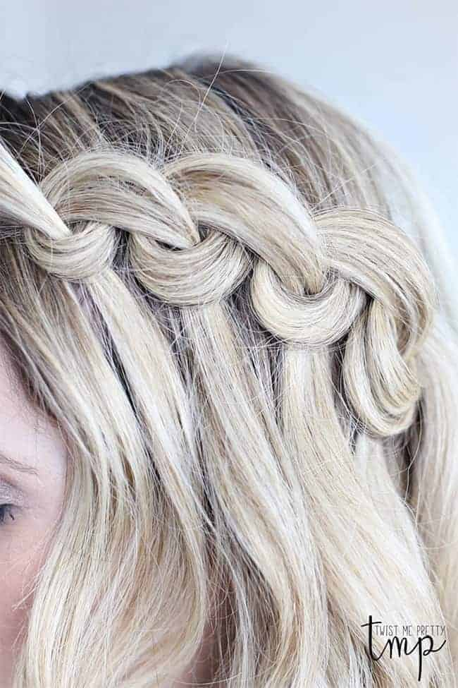 Looped Waterfall Braid from Twist Me Pretty