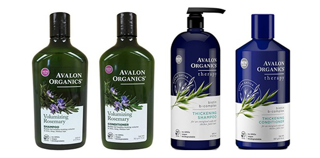 Avalon Organics hair products