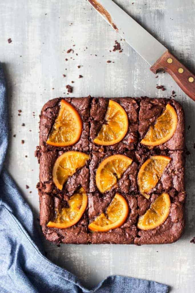 Gooey Chocolate Orange Brownies from Lazy Cat Kitchen