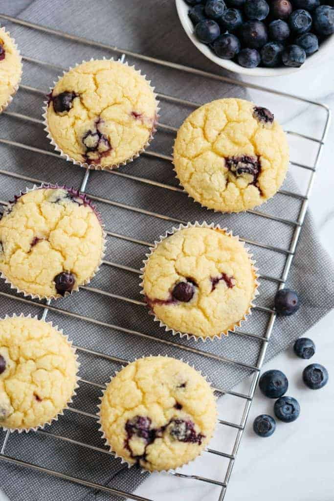 Lemon Blueberry Blender Muffins from Eat Yourself Skinny