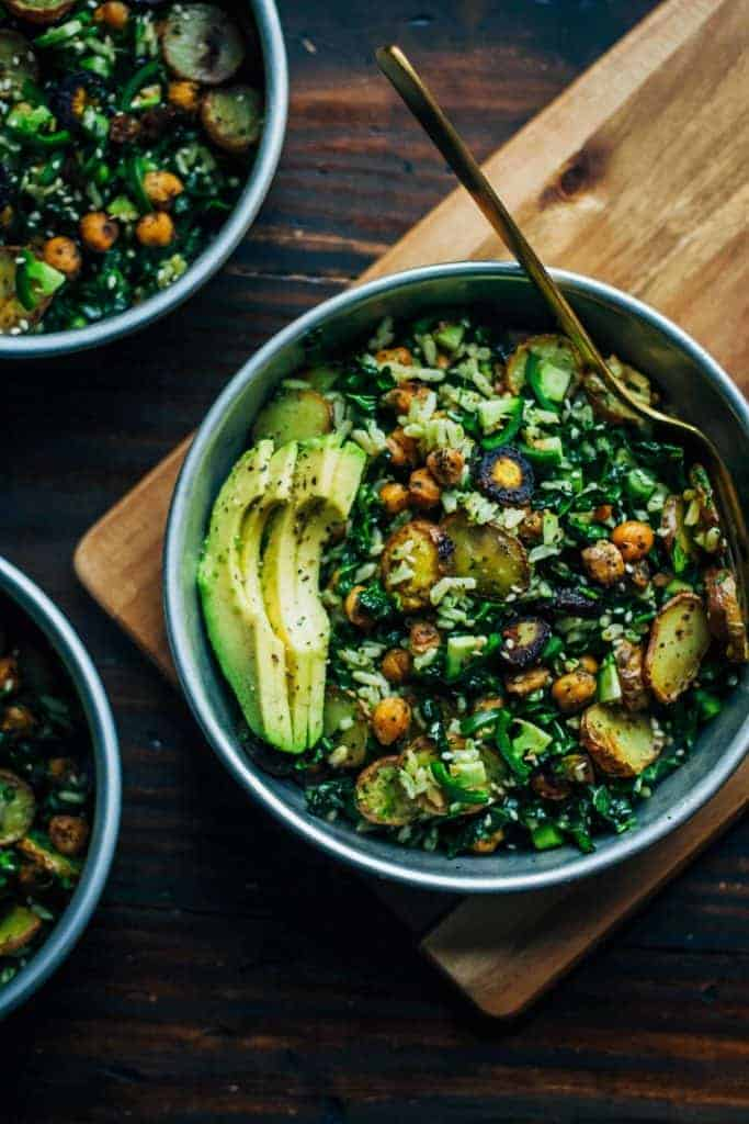 Kale Detox Salad with Pesto from Well and Full
