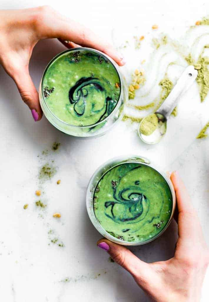 Creamy Coconut Spirulina Superfood Smoothie from Cotter Crunch
