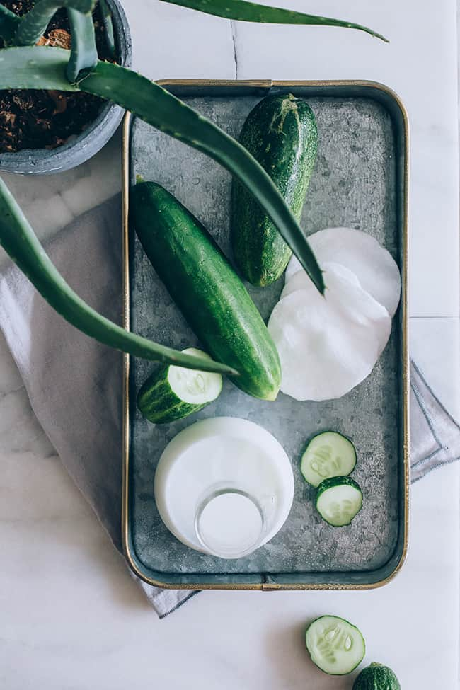 Use cucumber, Aloe and Milk as natural treatments to soothe razor burn